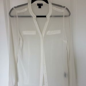 Tops - Sheer Cream Blouse